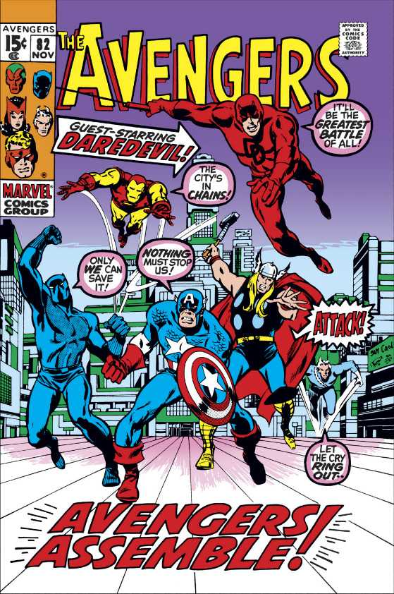 The New York Giants have teamed up with Marvel to create unique content that involves their players and brand with comic book explanations like Avengers.  This includes a recreation of this original cover.