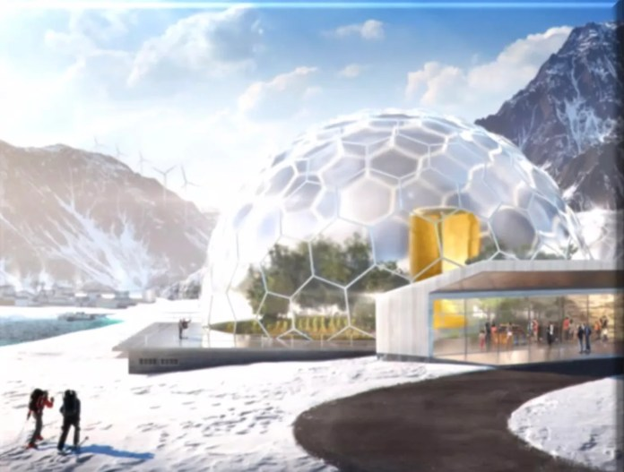 Artist's concept of an envisioned nuclear power plant in Alaska.