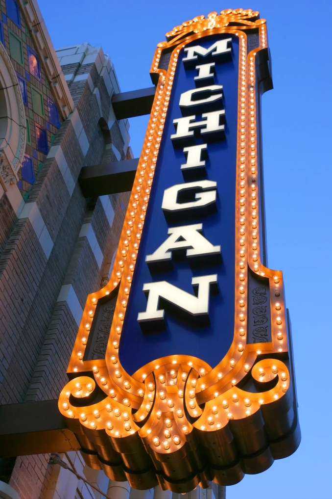 Farmington is about 20 minutes away from Ann Arbor, where the historic Michigan Theater is located.