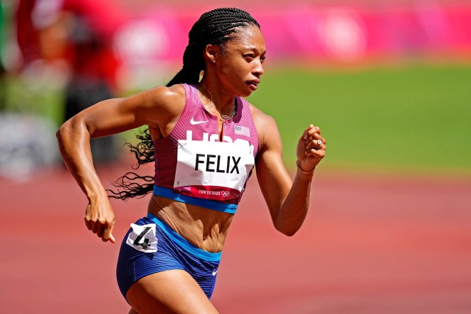 One of the most decorated American Olympic runners, Allyson Felix advanced to Wednesday's semifinals in the women's 400 meters.
