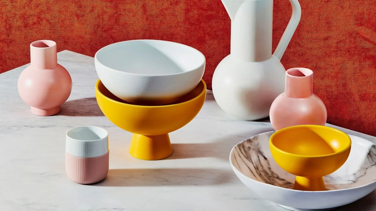 These modern Danish-inspired bowls are just as functional as they are fashionable.