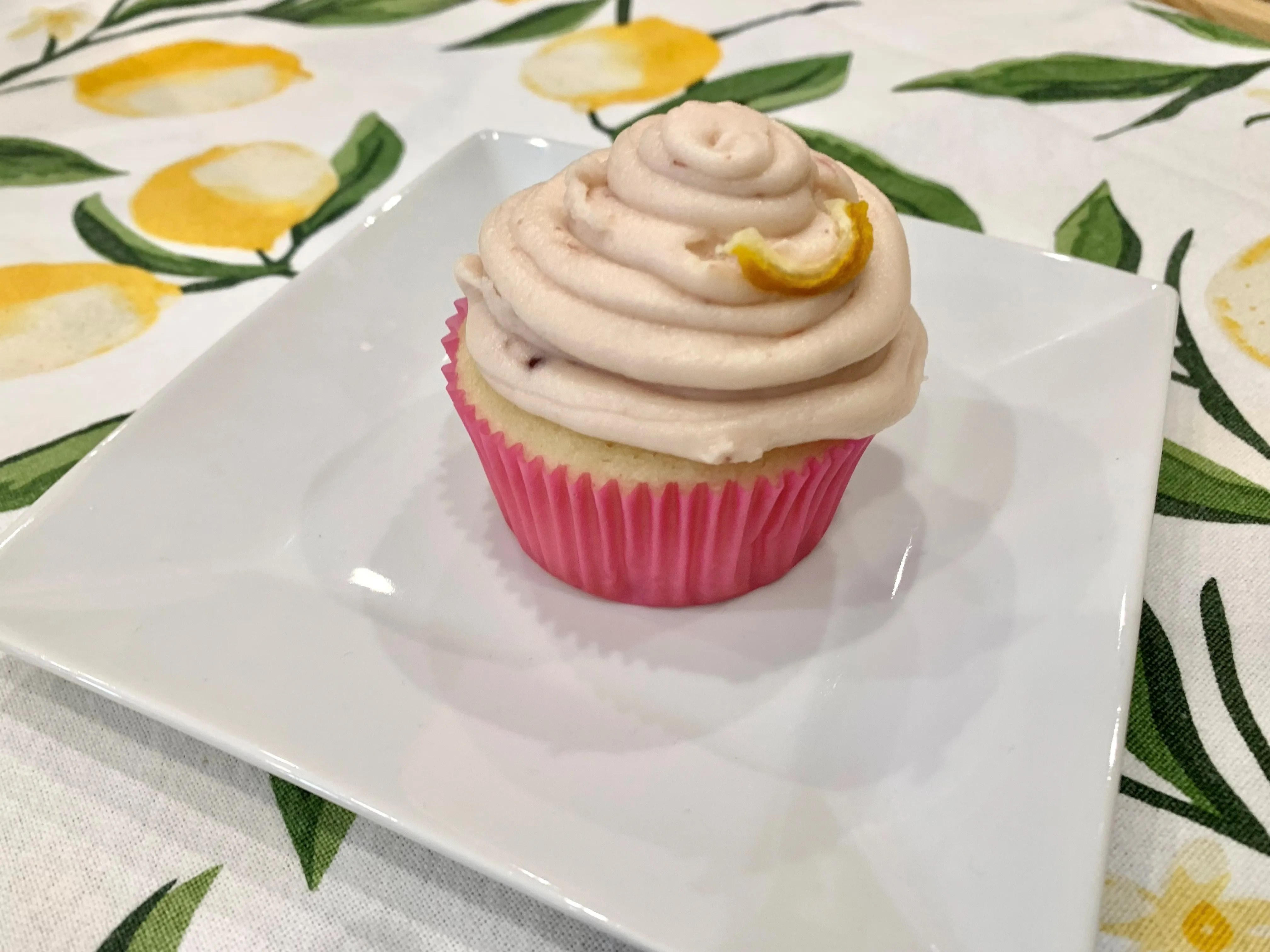 On the menu at The Curious Kitchen, 327 E. State St., Murfreesboro: made-from-scratch strawberry-lemon cupcake.