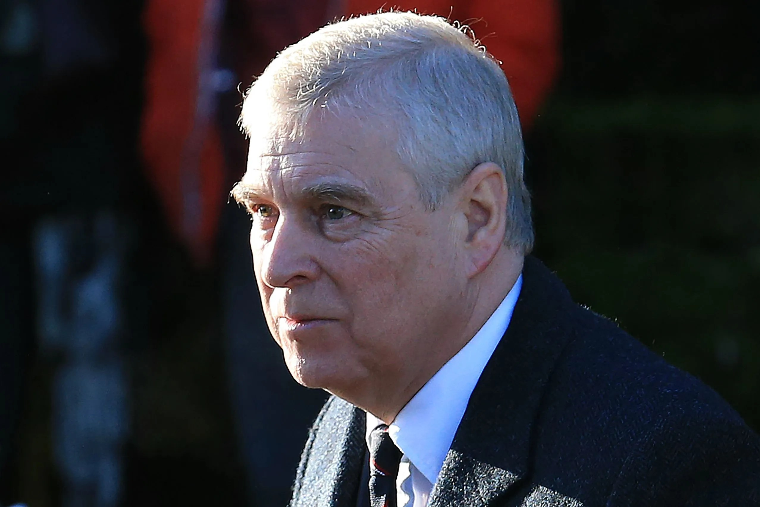 Prince Andrew in January 2020, arriving at a church service in Norfolk, in eastern England.