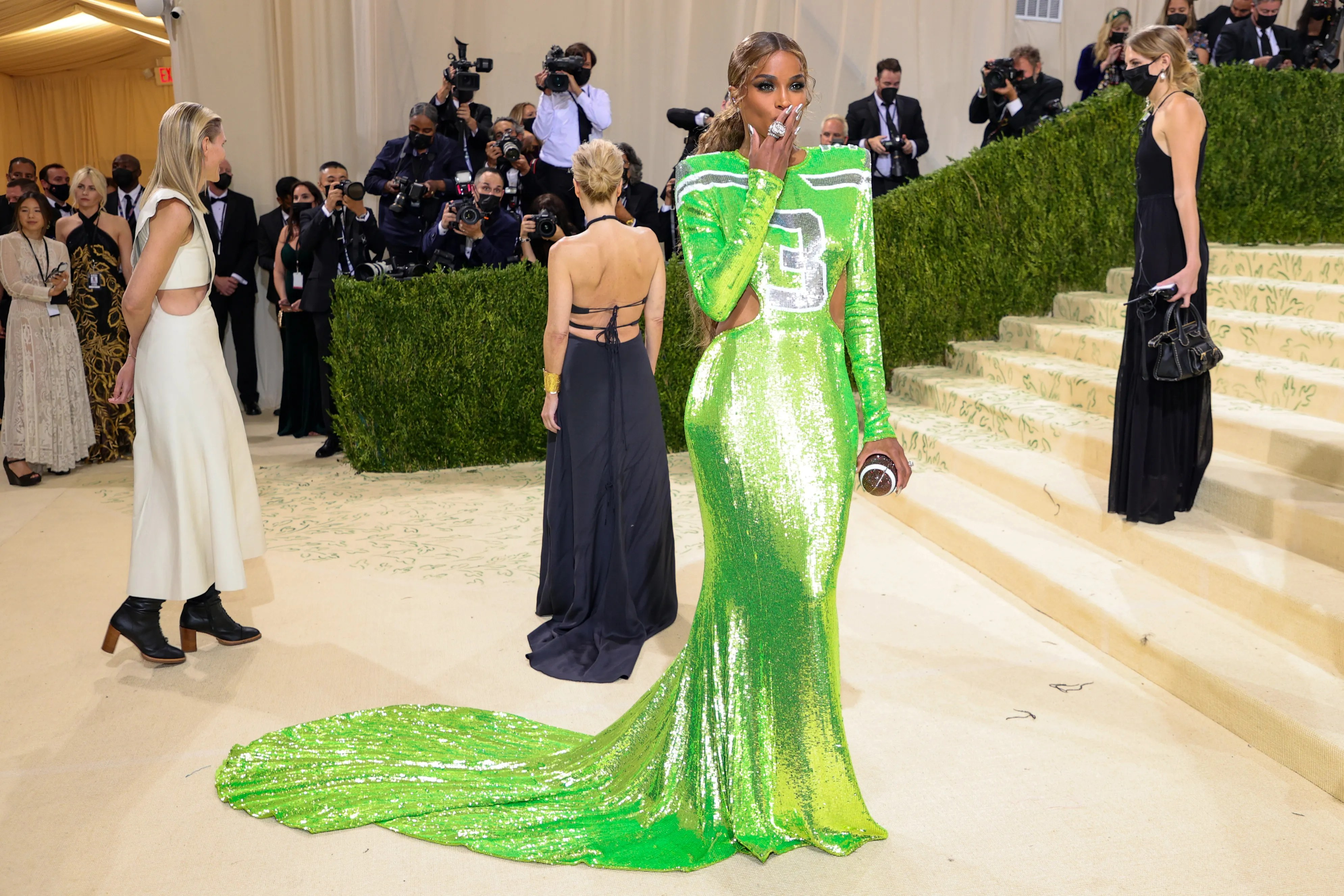 Ciara attends The 2021 Met Gala Celebrating In America: A Lexicon Of Fashion at Metropolitan Museum of Art on September 13, 2021 in New York City.