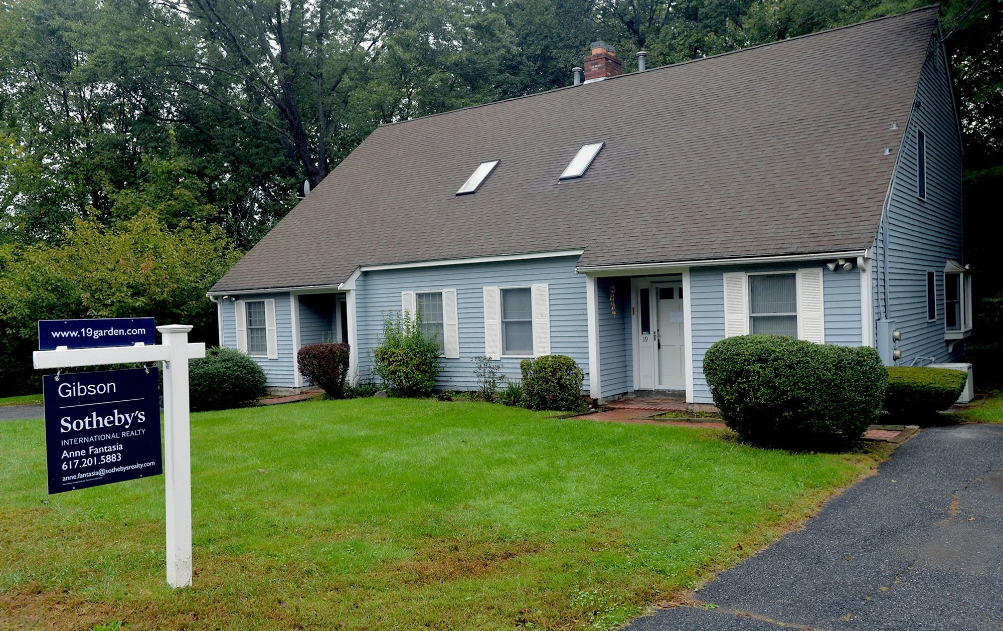Home for sale at 19 Garden Road in Natick.