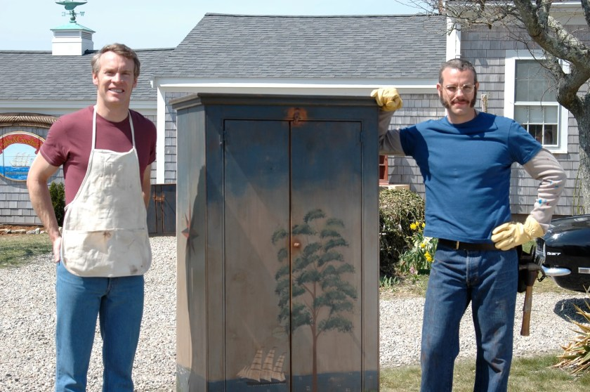 Tate Donovan, left, and Adam Pascal in a scene from the movie