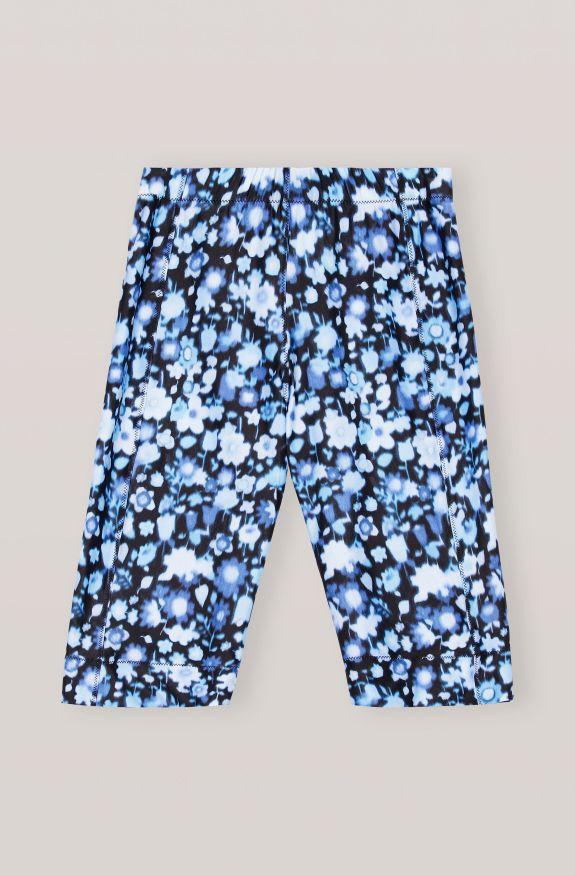 Recycled Printed Shorts, Polyamide, in colour Phantom - 1 - GANNI