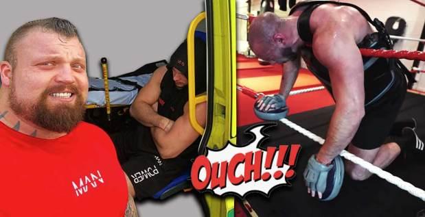 Titelbild: Eddie Hall verletzt Trainingspartner während Boxkampf