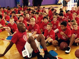 Ray Allen with Kids