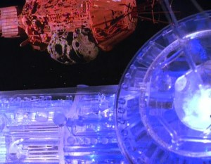 The Holoship next to Red Dwarf
