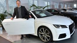 Markus Bauer mit einem Audi TT
