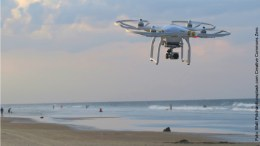 Drohne am Strand