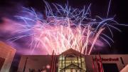 Feuerwerk über dodenhof Kaltenkirchen