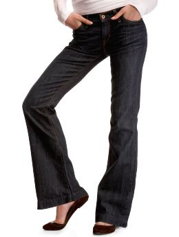 Women: Long and lean jeans - crosshatch rinsed