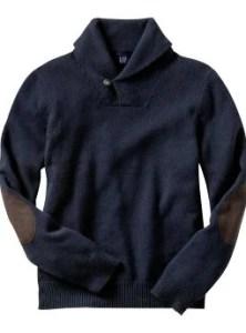 Men: Shawl collar - true navy