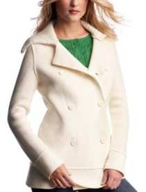Women: Double-breasted sweater coat - ivory frost