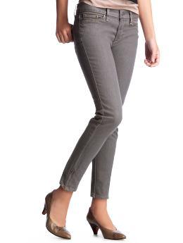 Women: Skinny ankle-zip jeans - cool grey