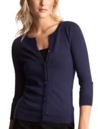 Women: Rhinestone cardigan - menswear blue