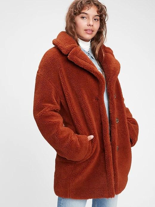 Trendy Women's Winter Coat - Teddy Bear Coat