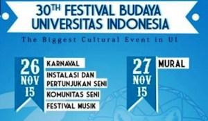 Ilustrasi foto poster Festival Budaya UI (ist)