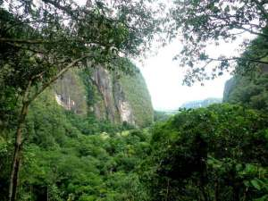 Foto: Lembah Harau dari puncak Bukit Akar Berayun. (Kirana Kejora)