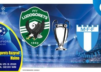 Prediksi Ludogorets Razgrad vs Malmo - Liga Champions 25 Agustus 2021