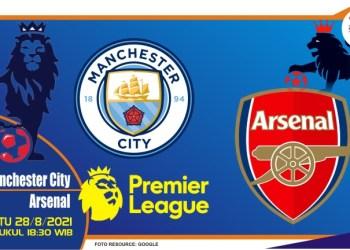 Prediksi Manchester City vs Arsenal - Liga Inggris 28 Agustus 2021