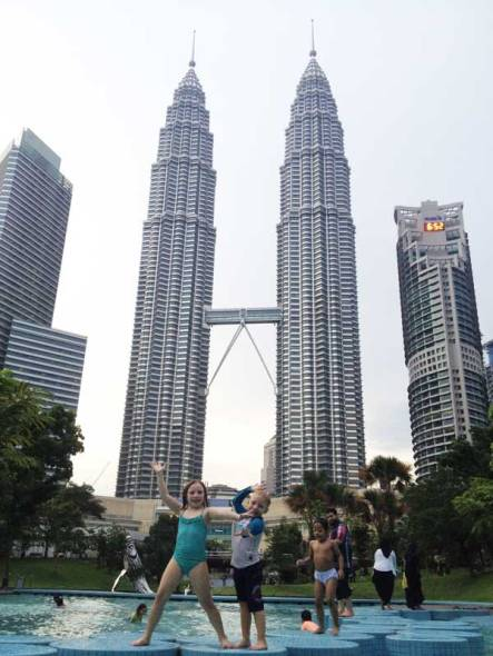 KLCC-Towers-with-Kids-Kual-Lumpur
