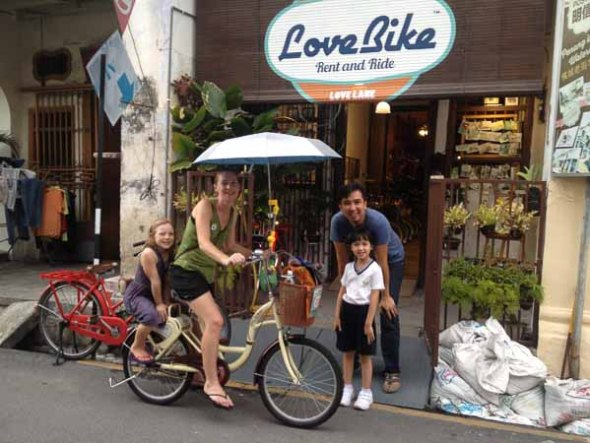 "Loving the ""Love Bikes"" but wishing we had helmets"