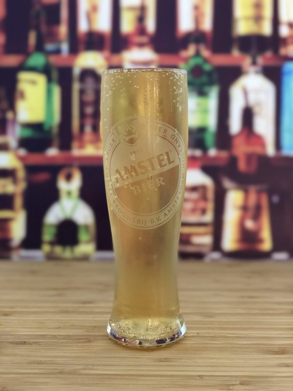 Amstel 2:3 pint beer glass