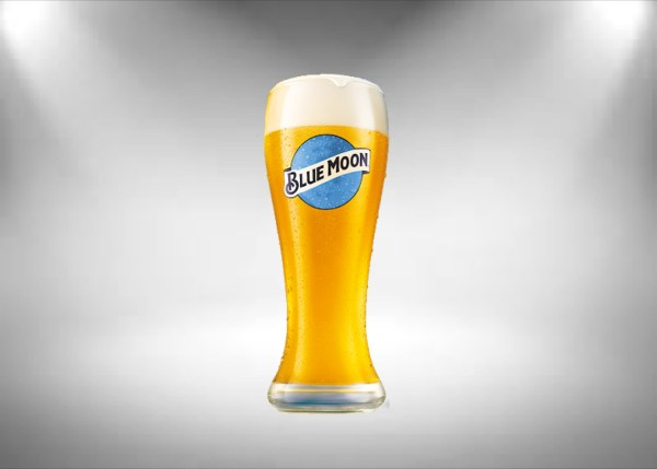 Blue Moon Tall Beer Glass
