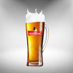 Ostravar Mustang Tall Beer Glass