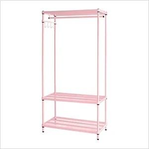 meshworks clothing rack pink