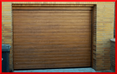 Ribbed Wood Garage Doors