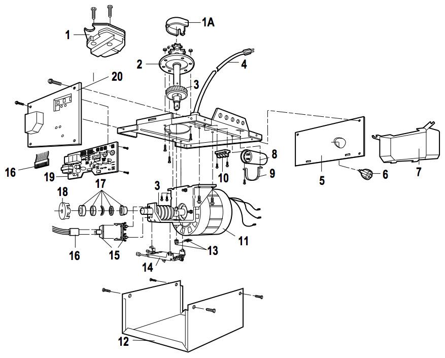 LiftMaster 1246R, 1256R Garage Door Opener Parts