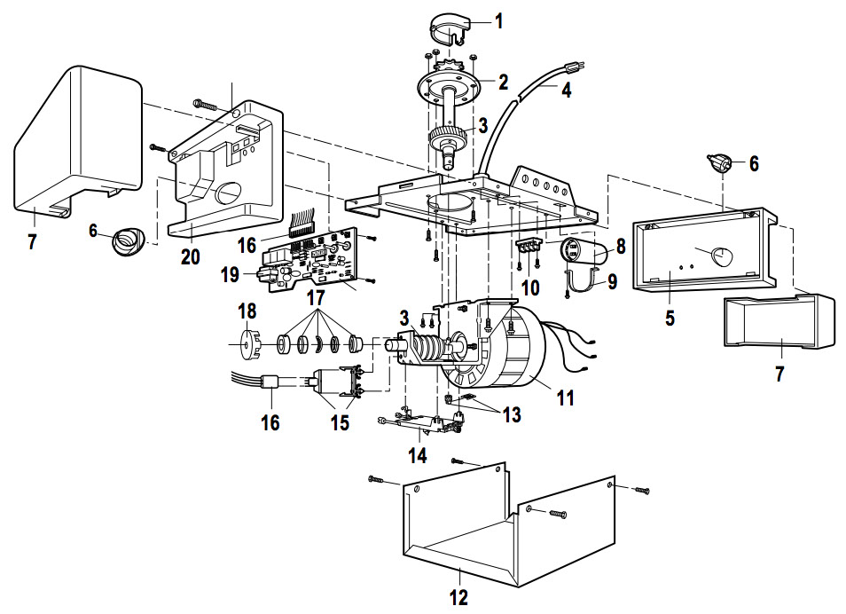 LiftMaster 1250, 1260 1260LK, 220WD, 320WD Parts