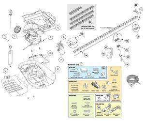 Genie 2564, 2562 Garage Door Opener Parts Diagram