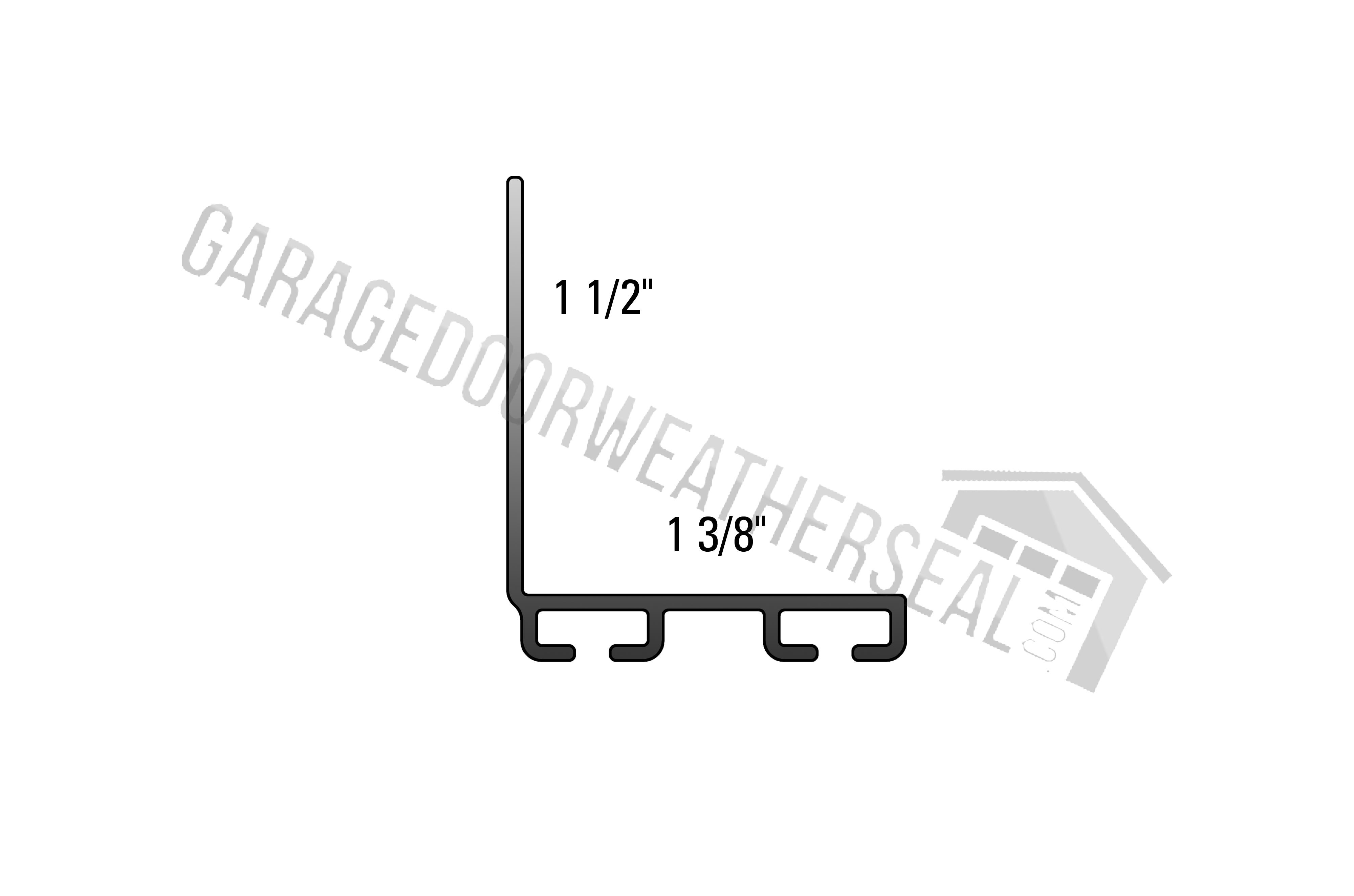 Garage Door Weather Stripping Retainer 1 1 2 X 1 3 8