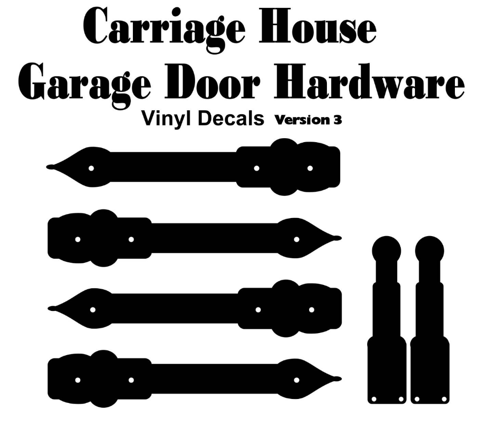 Garage Door Vinyl Window Decals: Craftsman Garage Door Hardware