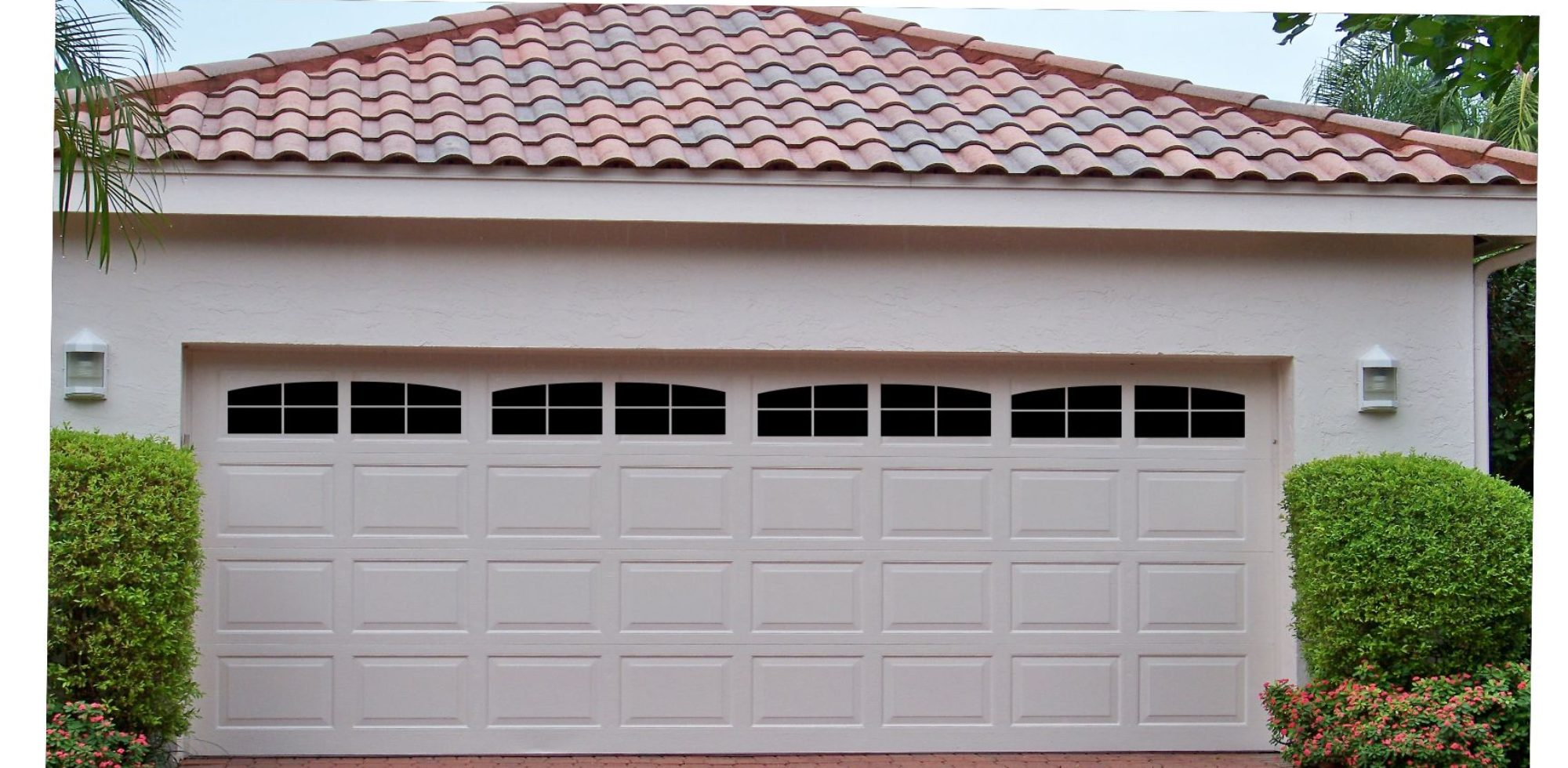 Carriage house style faux window garage door vinyl decals for Faux carriage garage door
