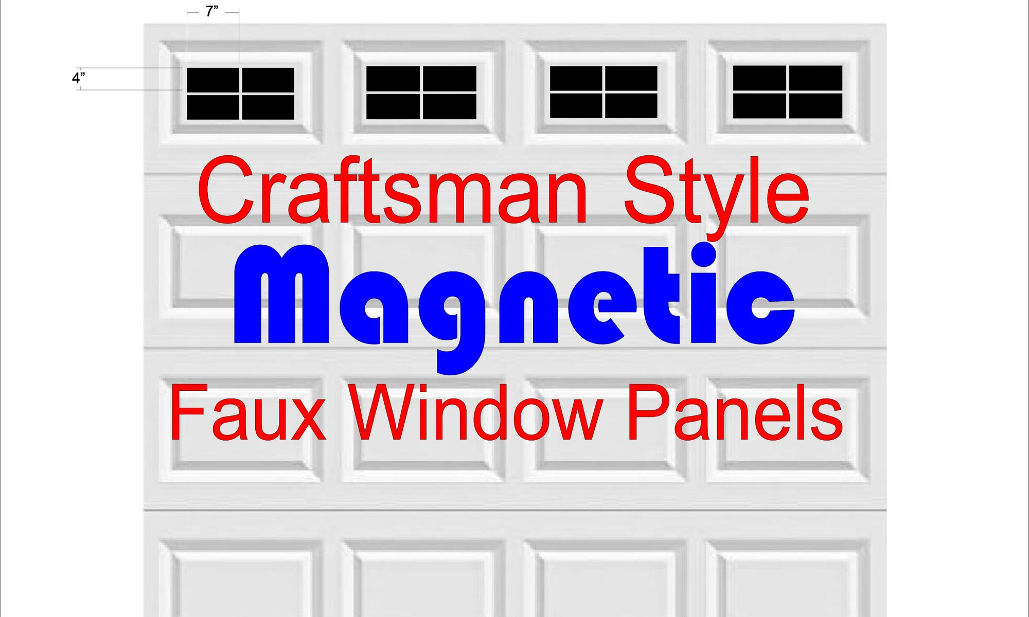 Magnetic Faux Garage Door Window Panels Removable