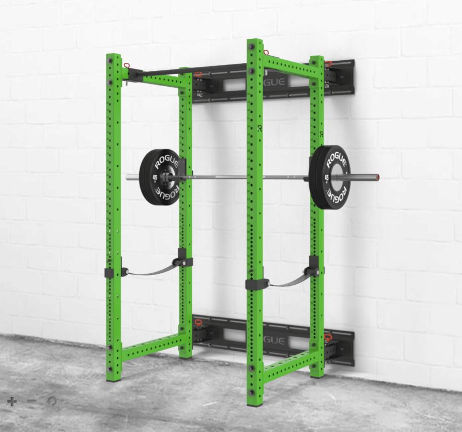 rogue rml 390fullw fold back wall mount power rack