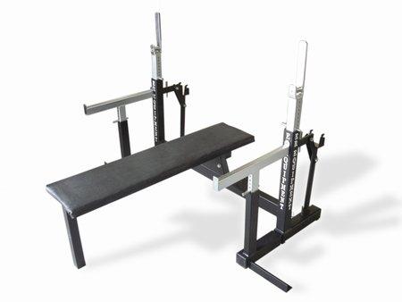 er equipment squat bench press combo rack