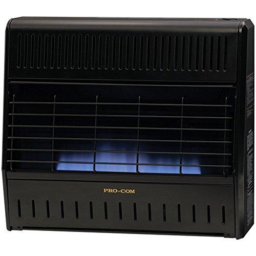 procom dual fuel ventfree blue flame garage heater btu