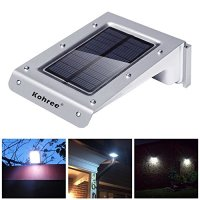 Kohree 20 LED Bright Solar Powered Motion Sensor Light Outdoor Garden Patio Path Wall Mount Gutter Fence Light Security Lamp-Upgrade Version