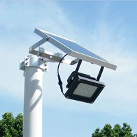 Solar Powered Floodlight/ Spotlight, Outdoor Waterproof Security Light 54led 400 Lumen for Home, Garden, Lawn, Pool