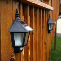 [Pack of 2 ] Kyson Waterproof Solar Garden light LED PIR Motion Sensor Wall Latern Fence Lamps Outdoor Motion Detector Activated Light for Patio, Deck, Yard, Garden, Home, Driveway, Stairs