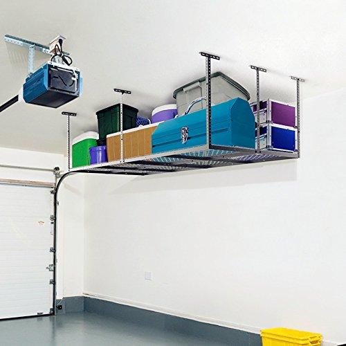 Fleximounts 4 8 Overhead Garage Rack With Add On Hooks Set Heavy