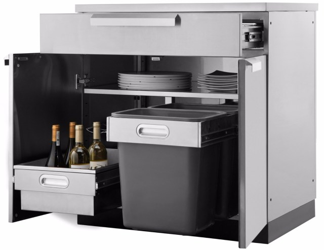 outdoor kitchen bbq cabinets. stainless steel | garagepride