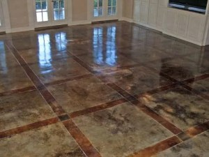 Acid Stained Concrete Credit